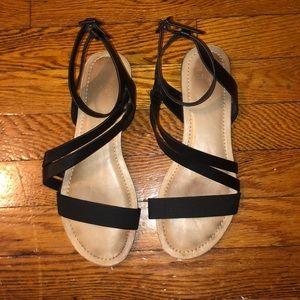 Woman's Mix No. 6 black sandals - Sz 8